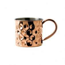 Solid Copper Dented Mug with Nickel Lining 48cl 17oz